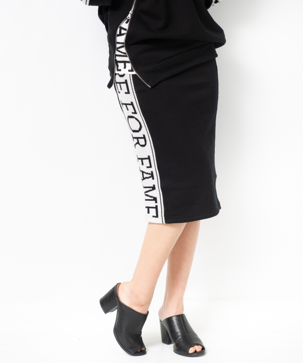 サイドラインジャガードZIPスカート